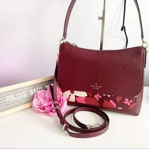 NWT Kate Spade Melody Forest Floral Flap Bag